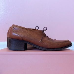 Vintage Cole Haan Cognac Leather Oxfords